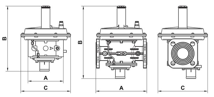 Регулятор RG/2MВZ Ду 32  P.МАКС 6 бар (15-33МБАР)